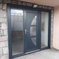 Porte d'entrée pvc bicoloration