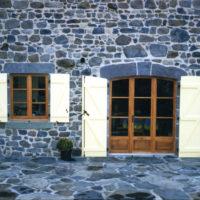 porte fenêtre 2 ventaux + fixe faux ouvrant cintré